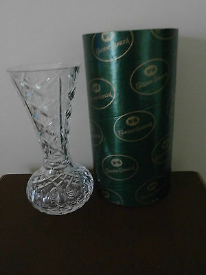 """Stunning Tyrone Crystal """"ARDMORE""""  10""""  Vase   BOXED"""