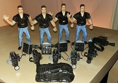 WWE Jakks Accessories Camerman x 4 Cameramen