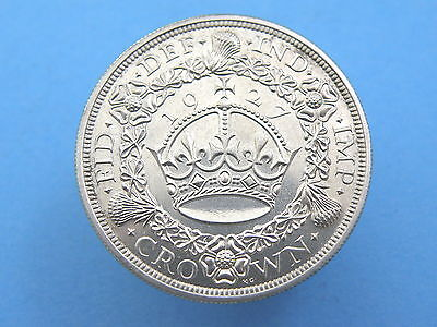 1927 King George V SILVER PROOF 'WREATH' CROWN COIN - High Grade LUSTROUS
