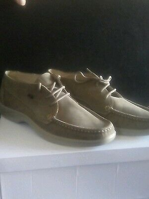 Light Step by Grisport, mens olive suede shoes, size 7,lace up, new.