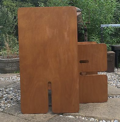 1960's Vintage Retro Mid Century Designed By Panawall Brown Ash Danish Desk