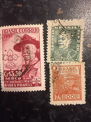 Brazil 3 X Stamps
