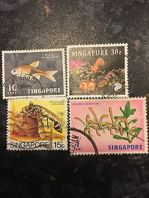 Singapore Stamps X 4