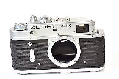ZORKI 4K body, rangefinder camera  based on Leica, after CLA service, from 1975