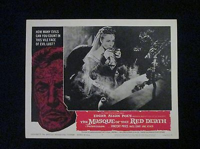 1964 Original The Masque Of The Red Death 11x14 Horror Movie Lobby Card #6