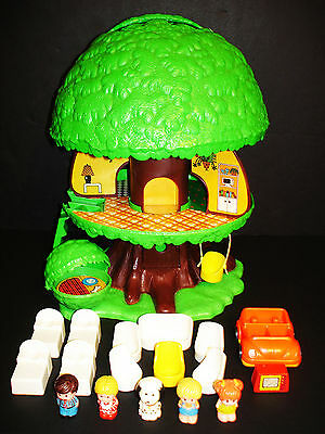 Vintage 1975 Kenner Tree Tots Tree House Treehouse Playset Complete And Nice!