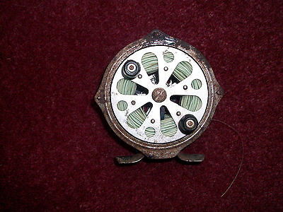 Vintage Fly Fishing Reel with Line