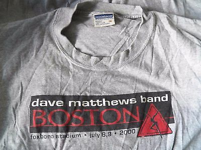 Vintage DAVE MATTHEWS BAND BOSTON 2000 Tour Foxboro Stadium Concert XL T-Shirt