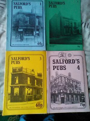 4 salford pubs books/booklets/ 1/2/3/4/