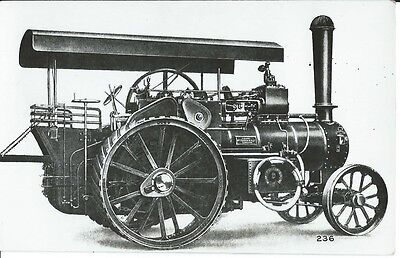 Traction Engine, Lincolnshire, Owned By William Foster, Photo Postcard
