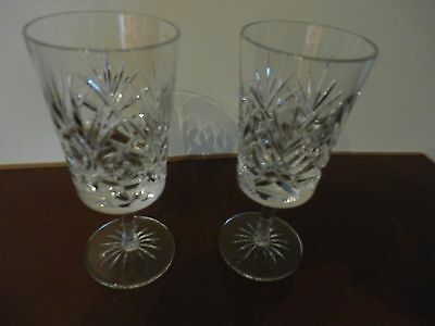 "2 Irish Cavan Crystal ""Sheelin"" ?  Wine Glasses"
