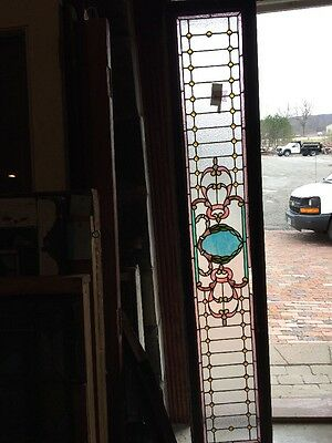Sg 979 Antique Stainglass Transom 84 Inch With Jewels