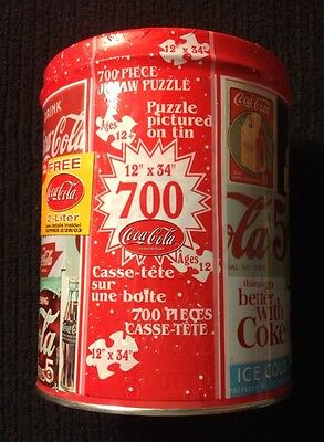 """Coca Cola 700 Piece Jigsaw Puzzle 12"""" X 34""""~New/Sealed In Tin"""
