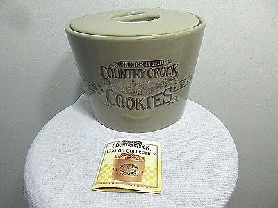 Shedd's Spread Country Crock Butter Dish Look A Like COOKIE JAR Crock MINT/NEW!