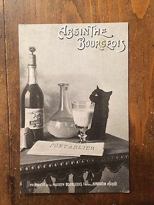 Carte Postale Ancienne Absinthe Bourgeois 1