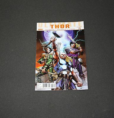 """Ultimate Thor~Marvel~#3~""""the Warriors Three""""~2011~Vg"""