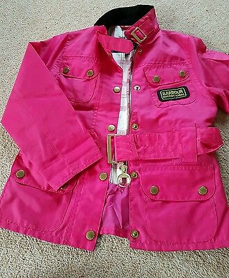 Girls barbour jacket age 4/5