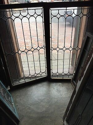 Sg 980 2 Available Price Separately Antique Leaded Glass Window