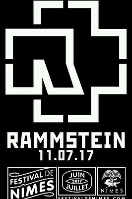 Rammstein Nimes 2 places Carre Or
