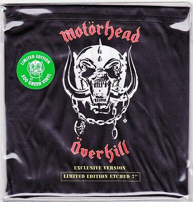 """Motorhead - Overkill - Limited Edition (500) 7"""" Green Etched Vinyl 45 - New"""