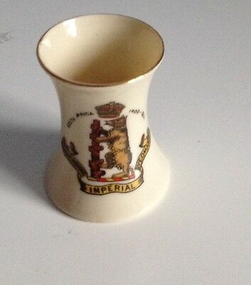Crested China Military Second Boar War South Africa 1900-1901 Warwickshire Reg