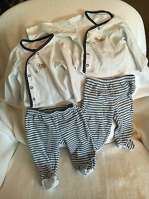 First Impressions Infant  Boy Footed Pants Top  6-12 Months Long Sleeve 2 Sets