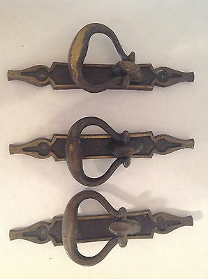 VTG Brass Gothic Style Cabinet And Door Hardware National Lock 1971