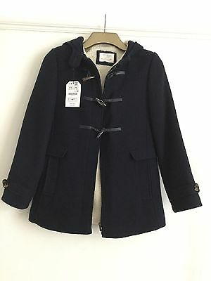 GIrls Navy Zara Duffle jacket New With Tags Age 13/14 164cm