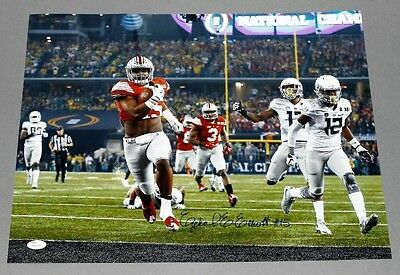 Ezekiel Elliott Signed 16x20 Photo Ohio State Buckeyes JSA COA Dallas Cowboys