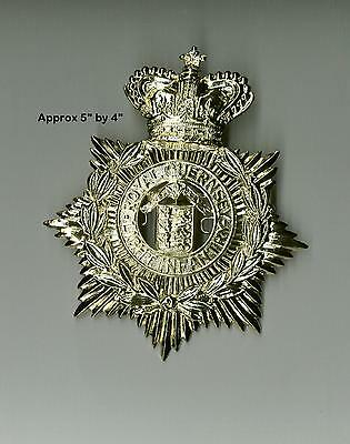 A Victorian Helmet Plate for Royal Guernsey - ideal Re-enachtments