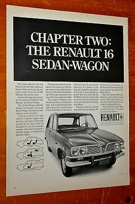 1969 Renault 16 Sedan Wagon Ad - Retro 60S French Classic Car Auto