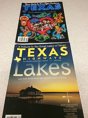 Texas Highways magazine, lot of 2, July & August 2015