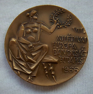 Orig.part.medal    Athletic European Championship BUDAPEST (Hungary) 1966 ! RARE