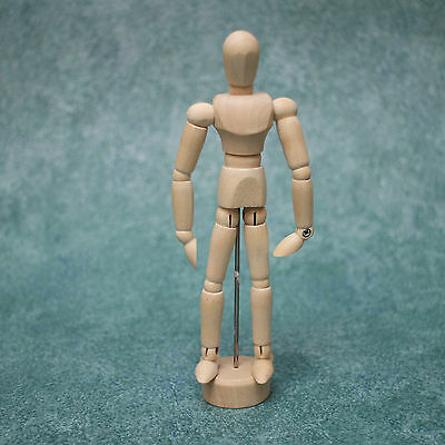 """6"""" Artists Wooden Mannequin Movable Limbs Human Joints"""