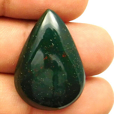 28.90 cts Natural Untreated Beautiful Bloodstone Gemstone Pears Loose Cabochon