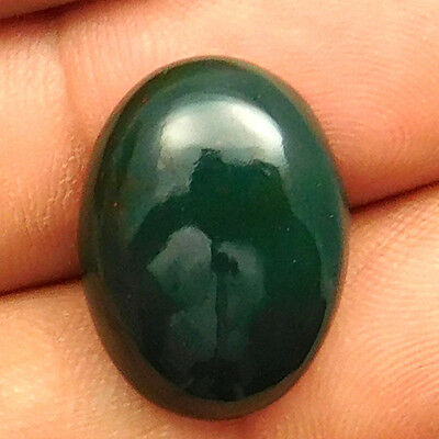 14 cts Natural Untreated Beautiful Bloodstone Gemstone Oval Shape Loose Cabochon