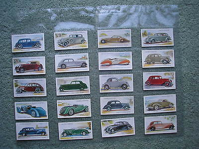 PLAYER'S CIGARETTE CARDS MOTOR CARS 2nd SERIES FULL SET