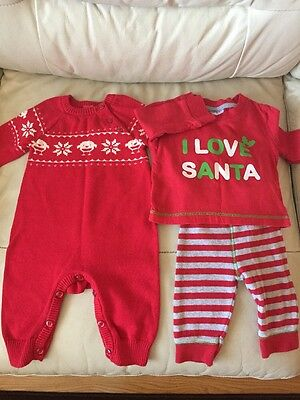 Baby's Christmas Small Bundle Size 3-6 Months Unisex VGC