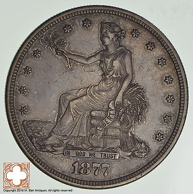 1877-S Trade Seated Liberty Silver Dollar *0783