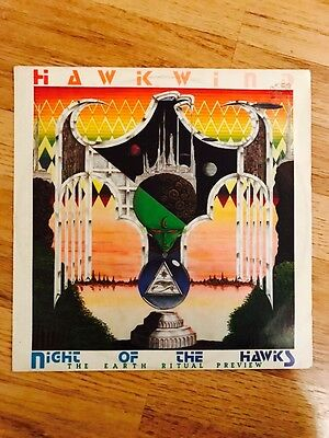 Hawkwind - The Earth Ritual Preview - Night Of The Hawks Record Rare 1984