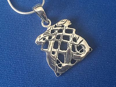 Hares Entwined  Arts And Crafts Style Sterling Silver  Pendant And Chain