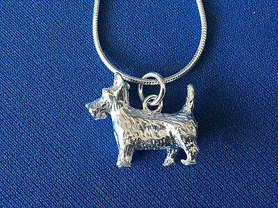 WESTIE / SCOTTIE DOG STERLING SILVER  PENDANT.925 WITH 46cms SNAKE CHAIN
