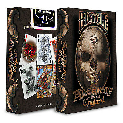 Bicycle Alchemy 1977 England Playing Cards Deck Gothic Fantasy Art New Sealed.