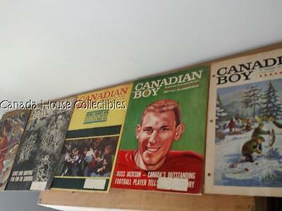 5 x 1964 Volume 1 Issue 1 (first Issue),6,7,8,9 Boy Scouts Canadian Boy Magazine