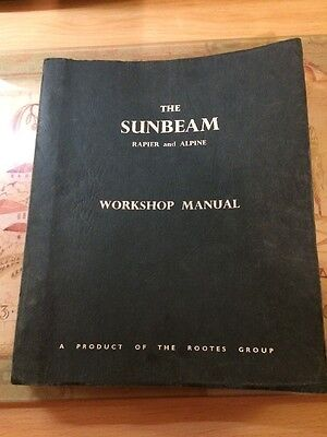 Sunbeam Rapier And Alpine Workshop Manual