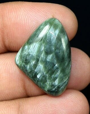 23.60  Cts. 100 % Natural  Russian Seraphinite  Fancy  Cabochon Loose Gemstones