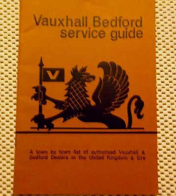 rare 1970 VAUXHALL-BEDFORD SERVICE GUIDE.