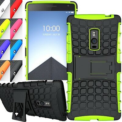 Shockproof Duty Rugged Dual Hybrid Armor OnePlus 2 Two Kick Stand Case Cover