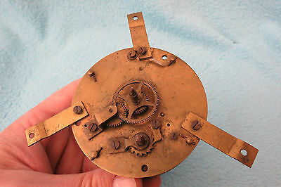 Antique French 8 Day Single Train Clock Movement For Tlc