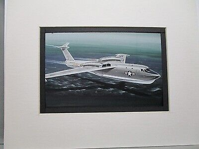 Martin P6M Seamaster  Model Airplane Box Top Art Color  artist G2